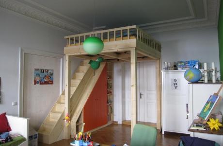 hochbett im kinderzimmer dein tischler in leipzig dein tischler in leipzig. Black Bedroom Furniture Sets. Home Design Ideas