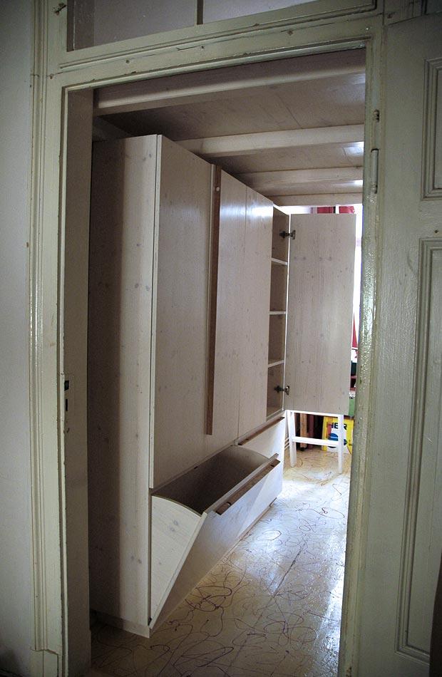 hochbett mit unterschrank und leiter dein tischler in. Black Bedroom Furniture Sets. Home Design Ideas