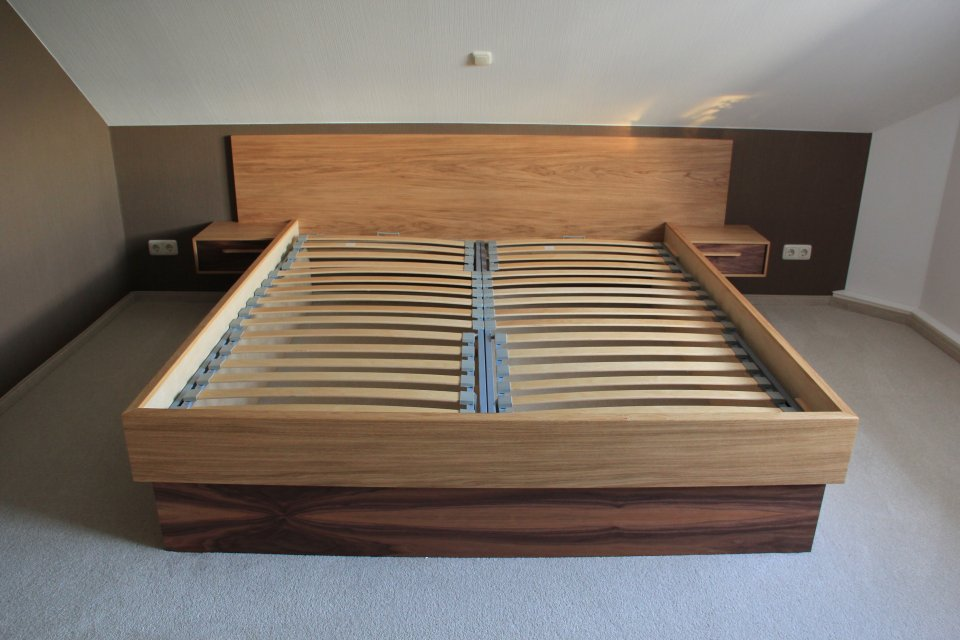Ankleide- und Schlafzimmer aus Eiche und Nussbaum - dein Tischler ...