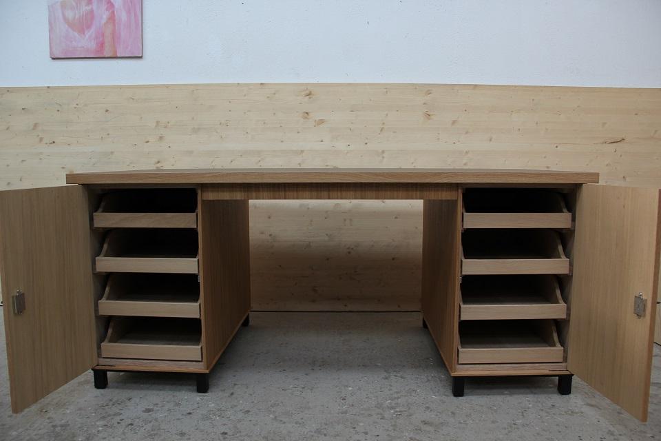 schreibtisch mit englischen schubk sten dein tischler in. Black Bedroom Furniture Sets. Home Design Ideas