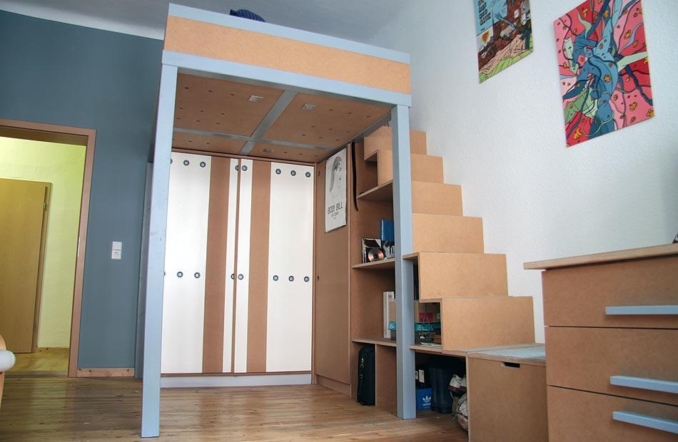 hochbett 1 dein tischler in leipzig dein tischler in leipzig. Black Bedroom Furniture Sets. Home Design Ideas