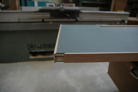 Lino Tischplatte Ansicht vor dem Leimen