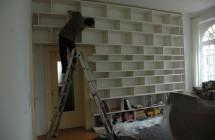 Endmontage Regalwand