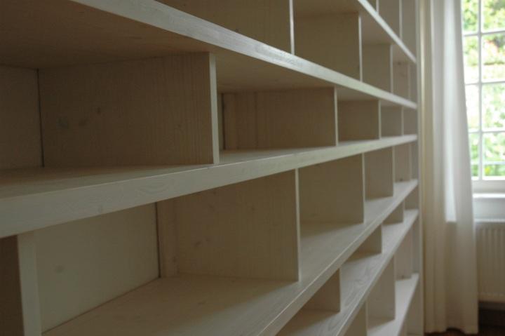 Bucherregal Wand Weis ~ Bücherregal von wand zu wand von boden bis zur decke dein